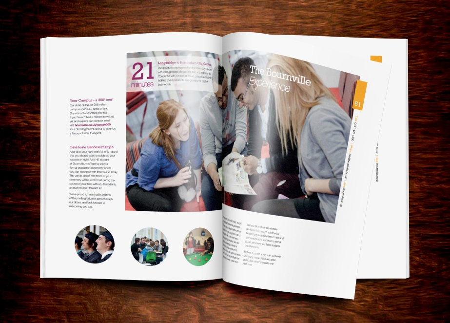 Mock ups of the Higher Education Prospectus [If printed]